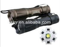 XML - t6 adjustable zoom light focusing light Cree flashlight t6 aluminum alloy flashlight