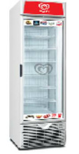 Upright freezing showcase with skin evaporator, suitable for pastry or ice cream use1