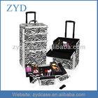 Zebra Rolling Trolley Makeup Case Beauty Case, Light Weight ZYD-LG58