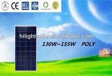 low price & high-efficiency polycrystalline solar panel 130W for solar power system