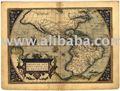 الاستنساخ العتيقة ortelius إبراهيم 1570 خريطة أمريكا الشمالية والجنوبية