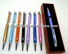 new style best seller metal material custom crystal ball pen