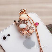 hot sale customer plug anti dust plug for iPhone owl phone jewelry