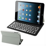 Free sample Bluetooth 3.0 Wireless Keyboard with Leather Protective Shell for iPad mini, Operating Distance: 10m