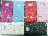 BLACK FLOWER BLING GLITTER PATTERN HARD CASE For Samsung Galaxy S2 I9100