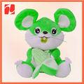 """Brushy Plush rato que come milho afago Toy Plush 5 """" cute Plush rato do brinquedo"""