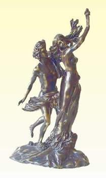 Bronze Apollo & Daphne Sculpture