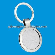 custom round blank metal keyrings