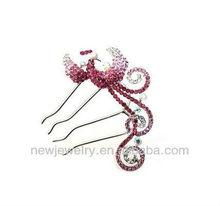 New Design Quality Hair Sticks,Lady Hair Ornament,Cystal Peacock Hair Fork