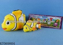 Kids Good Sale Lovely Cartoon Plastic Animal Toy Vinyl Fish Soft Toy