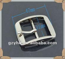 shinny plain paint metal buckle belt for bag fittings