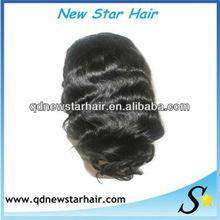 2013 fashion body wavy 100% remy Indian women hair wig