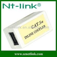 UTP Cat.5E RJ45 White Color Inline Coupler