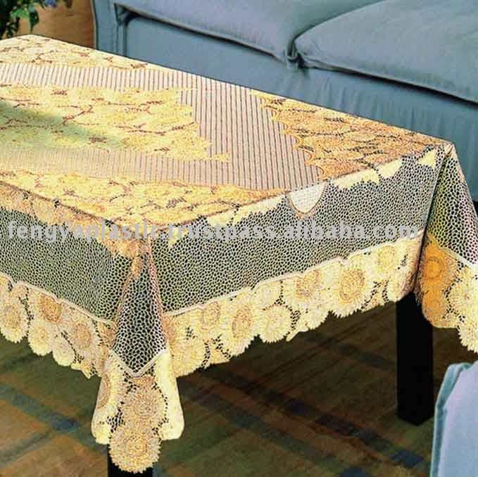 I'm looking for an oval pineapple tablecloth pattern that was in