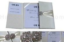 Embellished wedding silk folder silk folios and silk invitation boxes