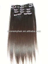 high quality human hair 32 inch hair extensions clip in
