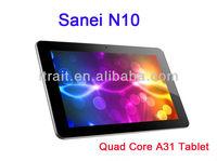 Original Sanei N10 Quad Core10.1 inch A31 Tablet PC 10.1'' inch 2GB RAM 16GB