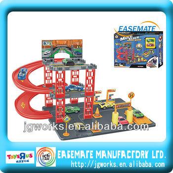 toy rail racing cars,parking lot,children car toys