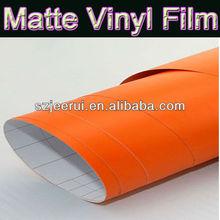 matte orange color car wrapping vinyl sticker,new style car paint protective matte vinyl film,car security film with bubble free