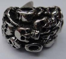 The gothic Stainless Stell Men's Tat Skull Rings 2013