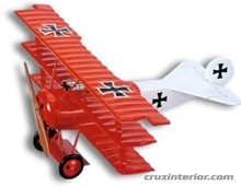 Fokker Dr 1 airplane wood model
