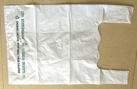 Biodegradable plastic t-shirt bags