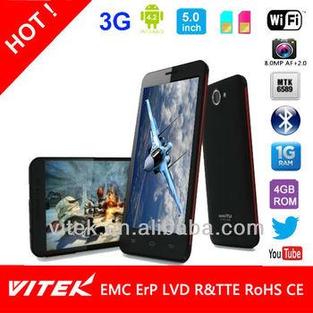 5.0 inch 13M Camera Android Mobile Phone MTK6589 Quad Core in Private design