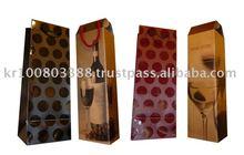 Ivory paper wine bottle bag(Polka dot)