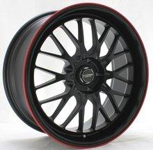 19x8.5 Kyowa Racing KR628 Evolve Black w/Red Stripe wheel