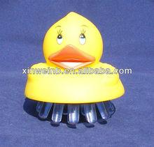 Yellow duck body brush massager