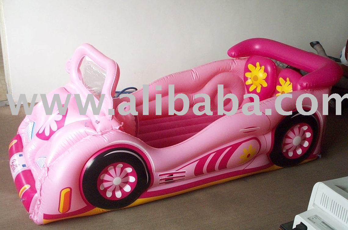 Inflable coche de los cabritos de cama inflable muebles - Coches cama para ninos ...
