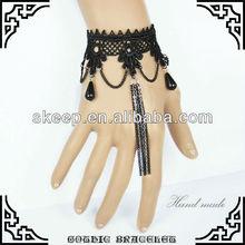 pure handwork gothic lolita chain tassel lace charm bracelet fashion wristlet bangle handchain fashion party accessory GS008