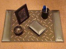 Desk kit in Genuine leather
