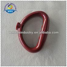 Red plastic handles