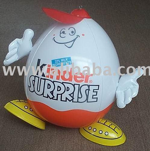 huevo hombre, Inflable Kinder huevo, La promoción inflable huevo
