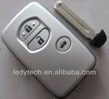Toyota 3 button keyless fob case with emergency key blade