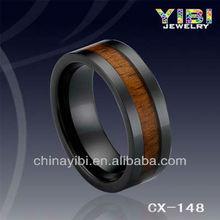 Kingwood And Emerald Ring ,Hawaiian Koa Wood ceramic bands,