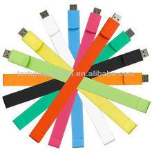 Shenzhen usb cheap 2gigas bracelet usb silicone