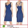 2013 fashion design for elegant women sleeveless bandage dress