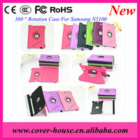 PU leather case for Samsung tab 8.0 N5100 with roatation and stand