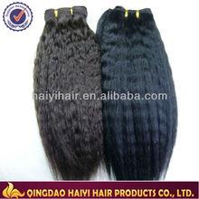 Hot selling no shedding cheap brazilian hair yaki perm weave