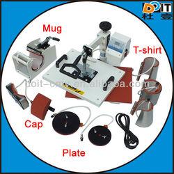 combo machine, mug, plate, hat, t-shirt printing machine, it blots some in order to print ts-shirt
