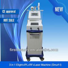 3 in 1 E-light Beauty Skin Rejuvenation Equipment (IPL+RF+Nd:yag Tattoo Removal laser)-On Promotion!!!