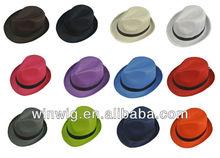 Fedora Hat Fashion Unisex Trilby Cap Summer Beach Sun Straw Panama in 12 Colors