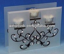 Branch design light holder crystal glass gifts