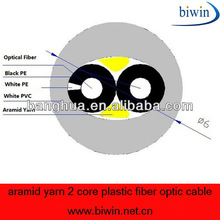 aramid yarn 2 core plastic fiber optic cable