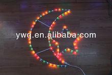 Colorful Moon and Star Christmas Lights Led Christmas Twinkle Light for Tree Lighting