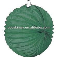 Different size accordion paper lanterns