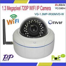 Onvif Protocol 720P Camera Dome IP66 WIFI
