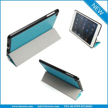 sleep/wake up function leather case for ipad mini leather case